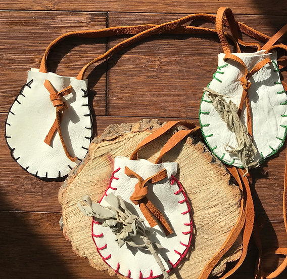 Leather Medicine Bag Necklace Free Shipping