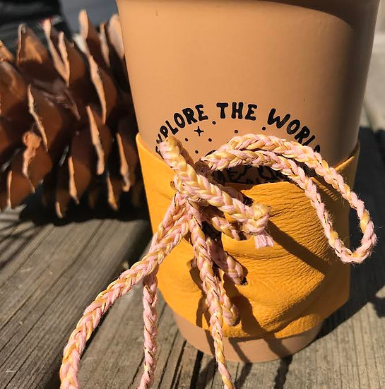 Leather Coffee Cozy From Designs by Danielle
