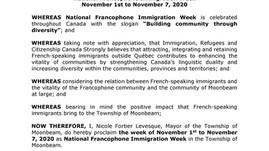 National Francophone Immigration Week