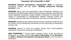 National Francophone Immigration Week
