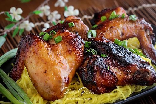 Korean BBQ Air Fried Chicken Wings wm.jp