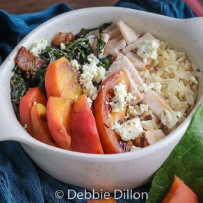 Grilled Peach & Turkey Bowl