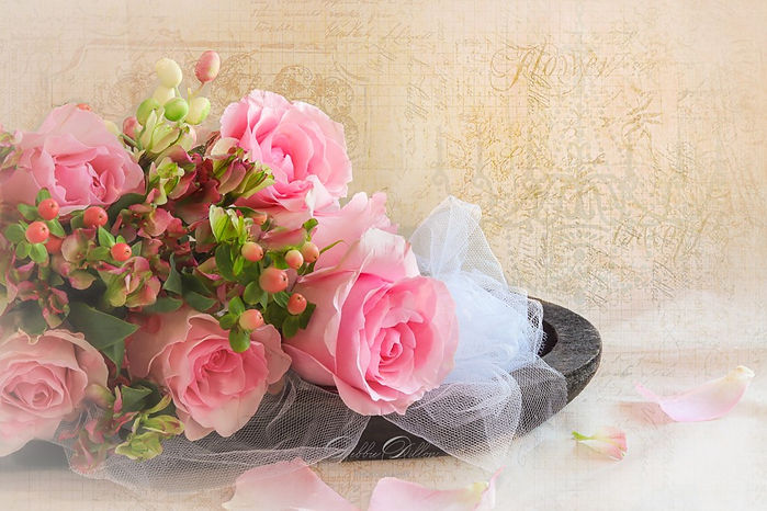Pink Bridal Roses textured wm.jpg