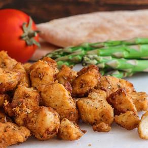 Garlic Parmesan Chicken Bites (in the air fryer)