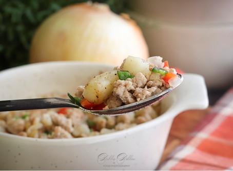 Ground Turkey Hash (2 for 1 recipe)