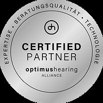 Lehmann Hörakustik KirchzartenOptimus Hearing Zertifikat