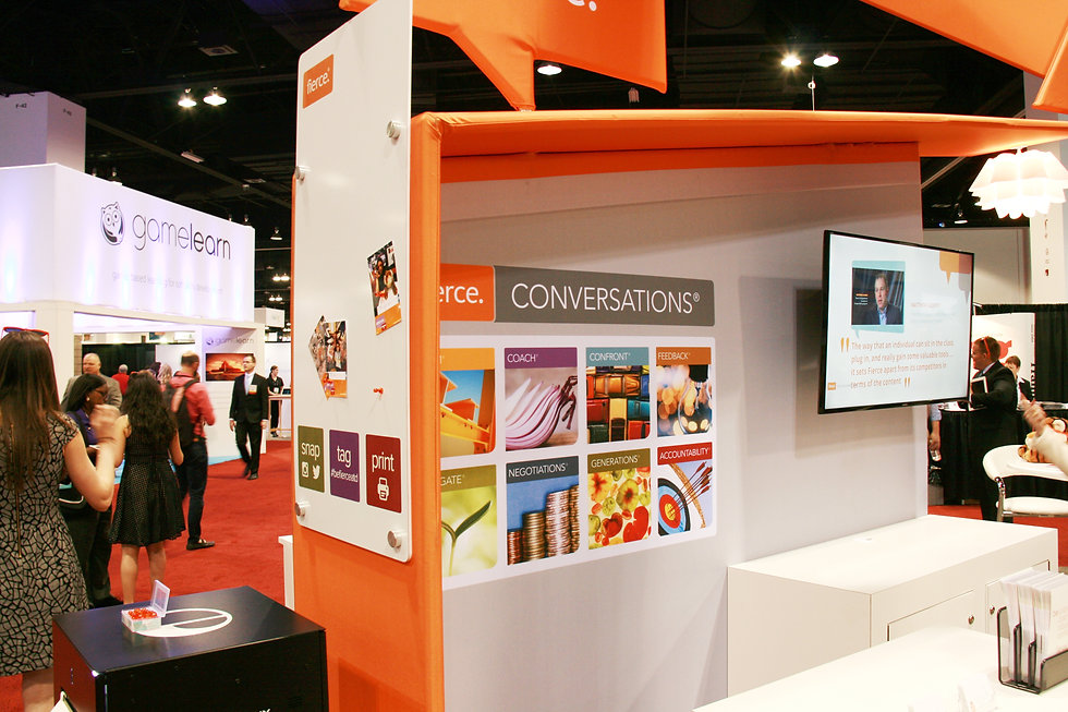 Nicholas Nelson Branding Marketing Designer fierce inc ATD tradeshow booth design social media printer