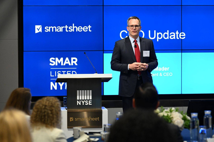 Smartsheet presentation for the NYSE