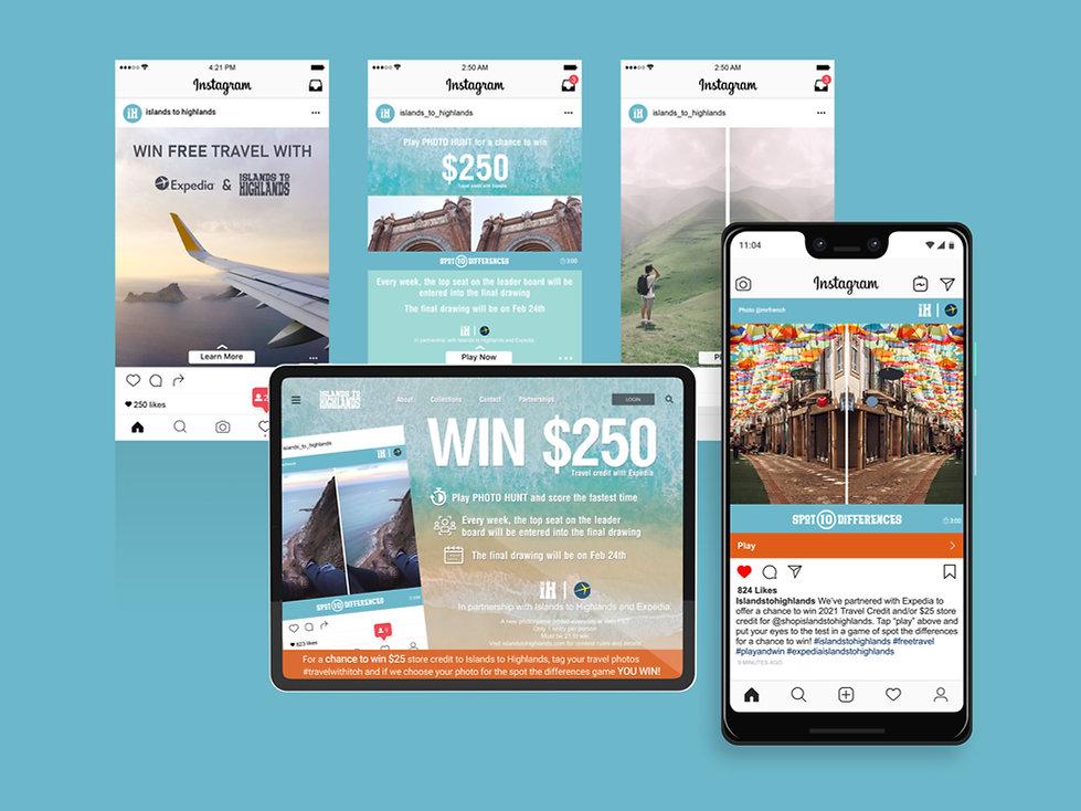 Nicholas Nelson Branding Marketing Designer Islands to Highlands social media expedia campaign