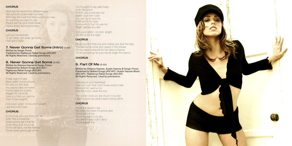 12 page CD booklet
