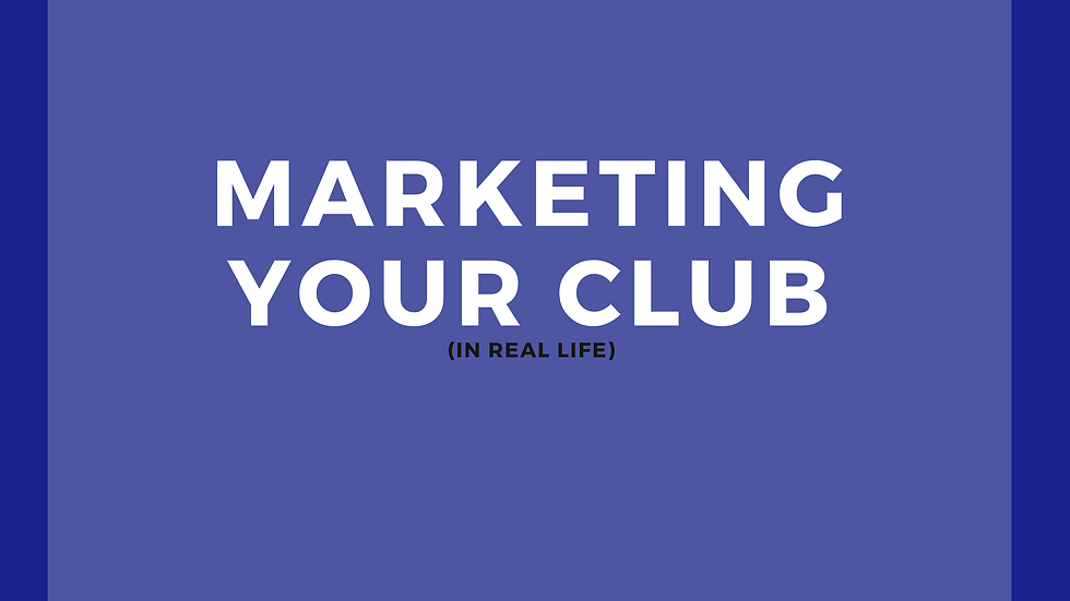 Marketing Your Club