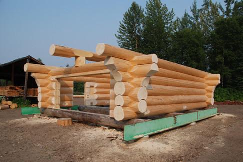 Log shop shell finished