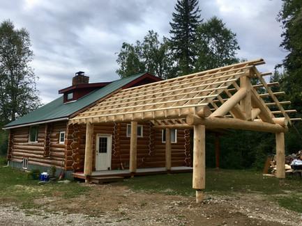Log Carport Project