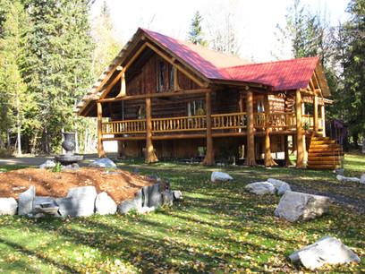 Family log Home