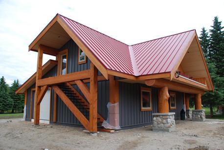 Heliski lodge outbuilding.