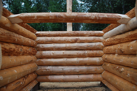 12' by 16' log cabin