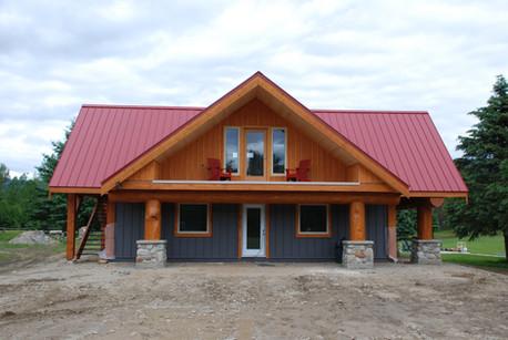 Guide building for a heliski lodge.