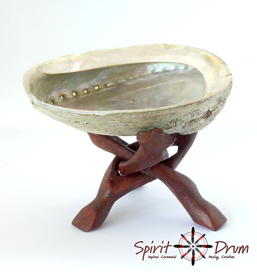 Abalone Shell and Wooden Stand