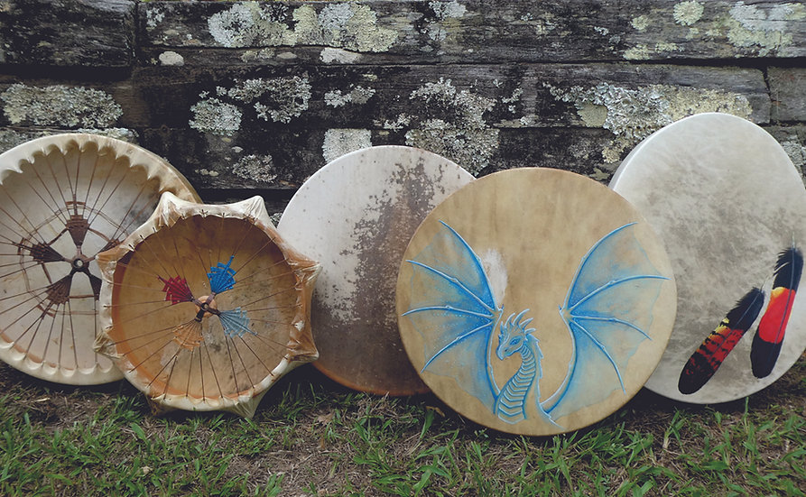 """18"""" Tuneable willow and kangaroo drum"""