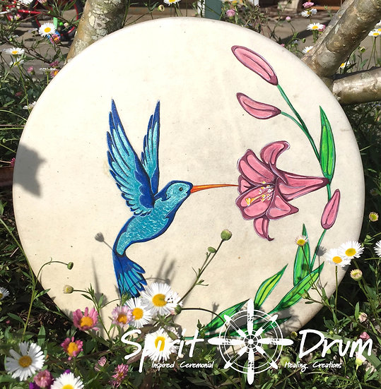 "12"" Willow and Kangaroo Hummingbird Drum"