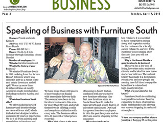 Speaking of Business with Furniture South