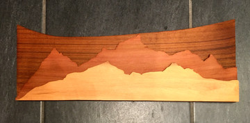 Cedar multi-tone mountainscape
