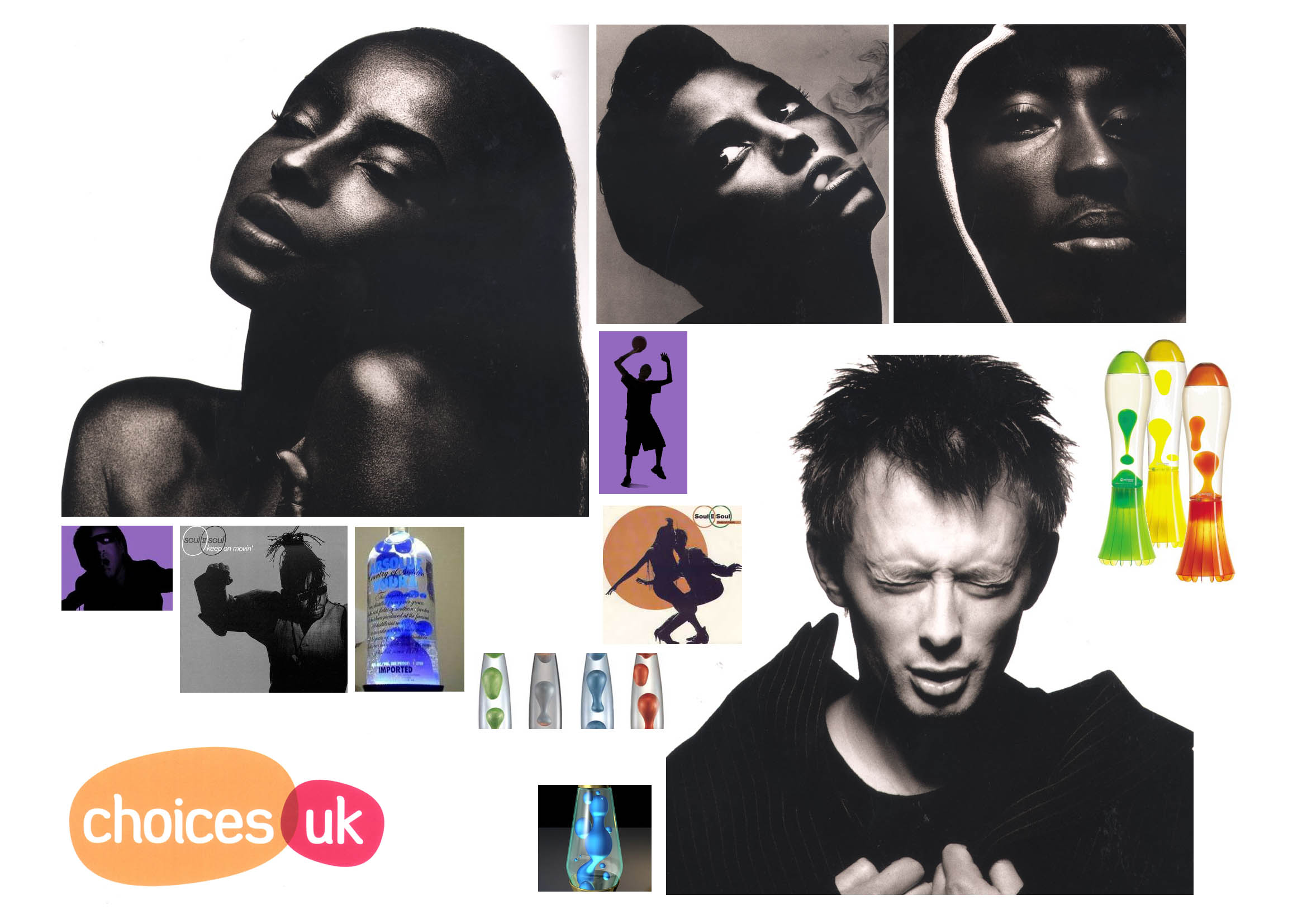 Mood board for Choices UK