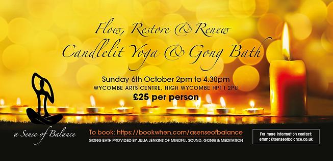 Candlelit Yoga & Gong - Oct19 Flyer Artw