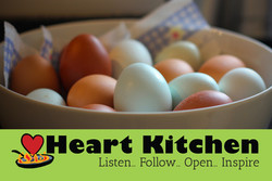 Heart Kitchen logo business card