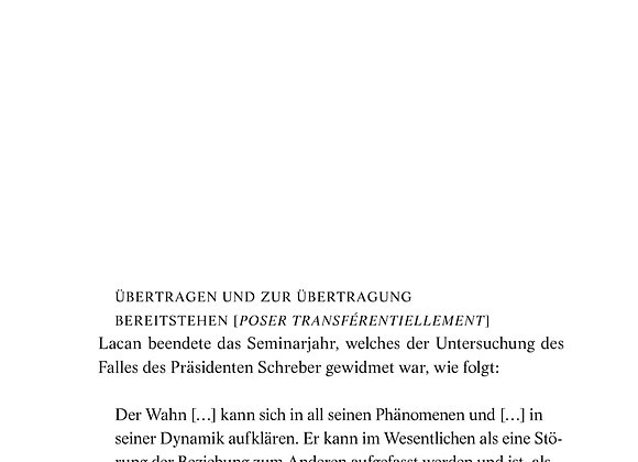 Allouch_Von der psychotischen Übertragung (Teil II)
