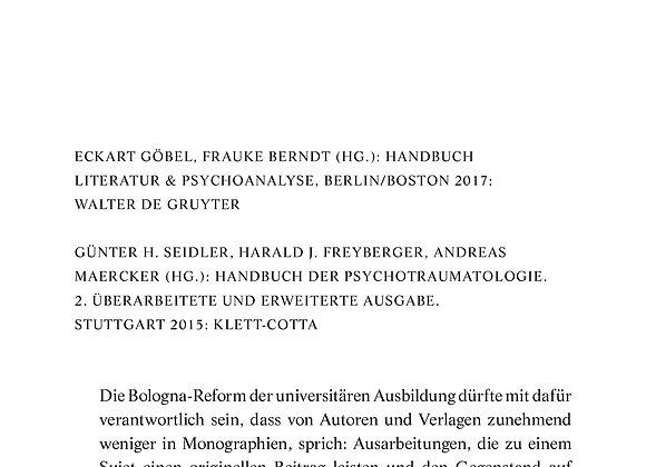 Gondek/Widmer_Handbuch Literatur & Psychoanalyse // Handbuch der Psychotraum._88
