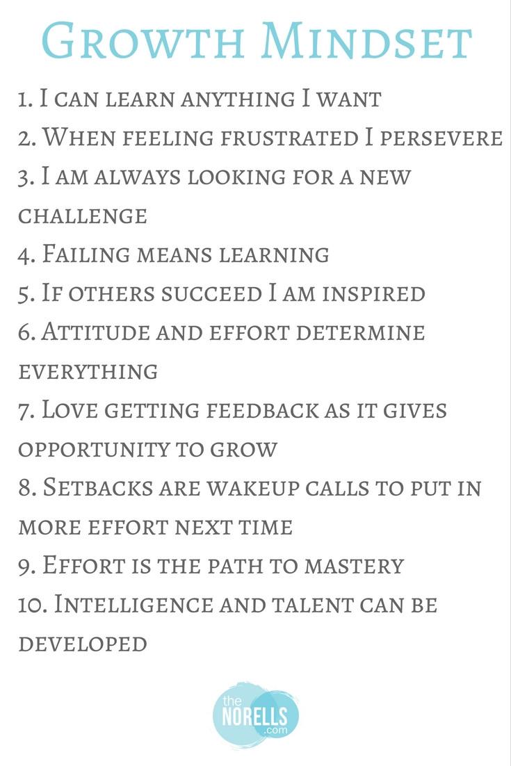 Top 10 Growth Mindset