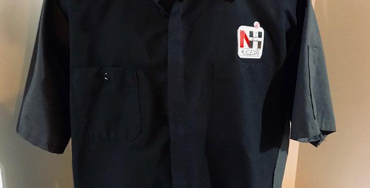 Red Kap Short Sleeve Mechanic's / Pit Crew Shirt - Gray & Black