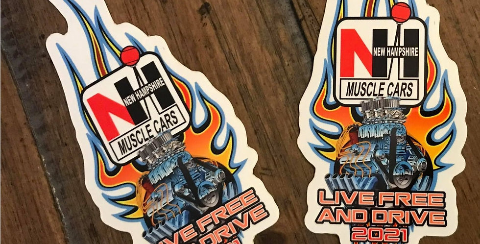 2021 Version of our NH Muscle Cars Decal - 2 Pack!