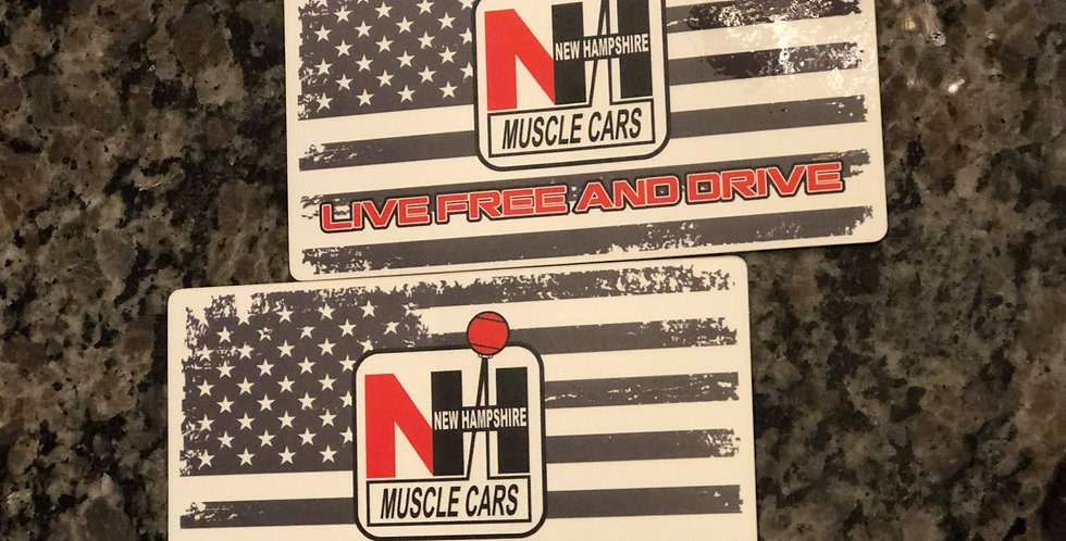 """Live Free and Drive Flag 3"""" x 5"""" Decal - 2 Pack"""