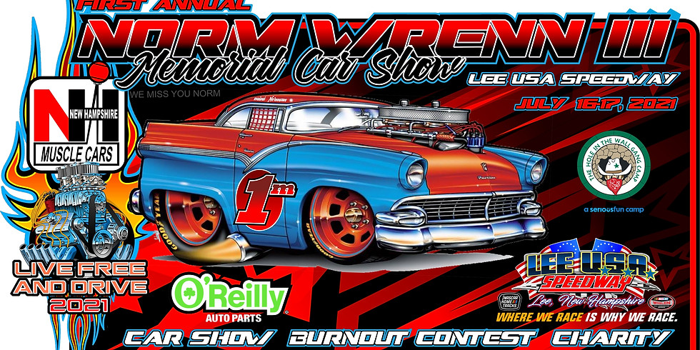 First Annual Norm Wrenn III Memorial Car Show at Lee USA Speedway