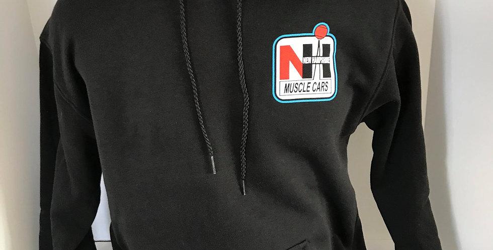 """NH Muscle Cars """"Live Free and Drive"""" Black Hoodie"""