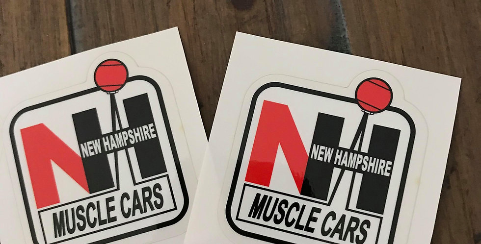 2-Pack of Small NH Muscle Cars Decals on Clear Backing