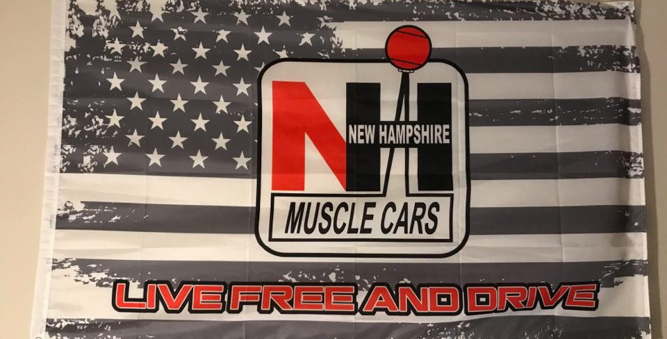 "3'x5' NH Muscle Cars ""Live Free and Drive"" Polyester Flag"
