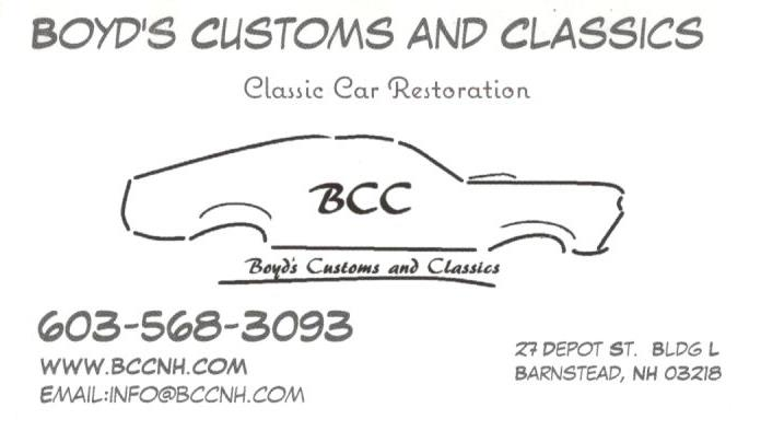 Boyd's Customs & Classics