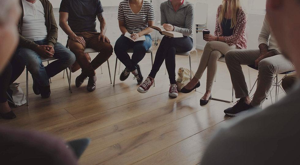 Grup Terapisi için toplanmış insanlar