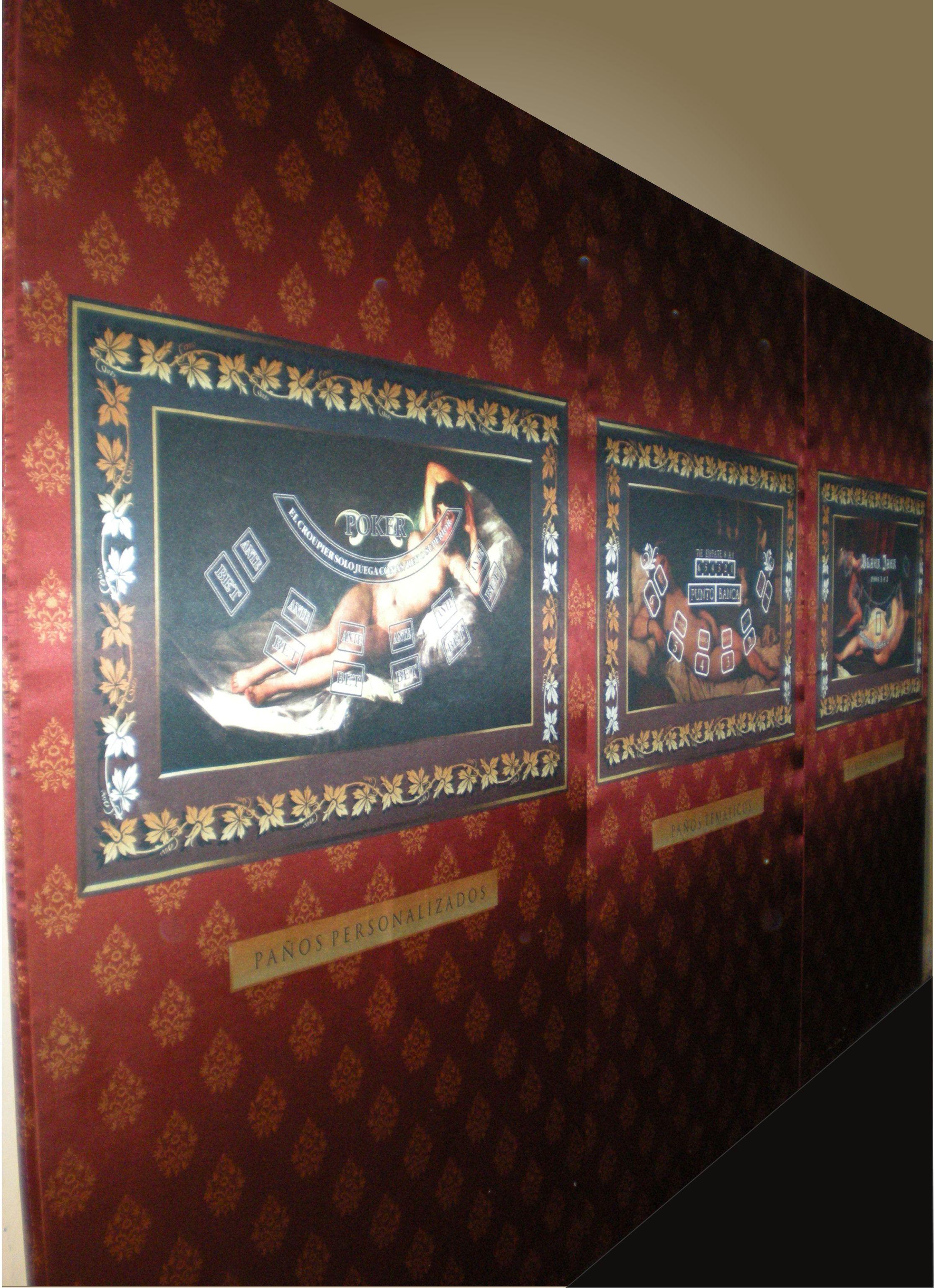 decoración casino hotel mural pared