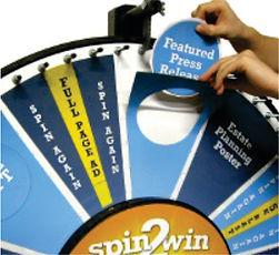 Rueda disco de la fortuna suerte, tómbola, sorteos, promociones, stand, eventos. Perosonalizable, premios autoadhesivos.