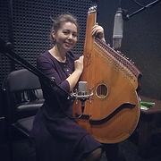 Recording bandura with Natalia Logoshyuk