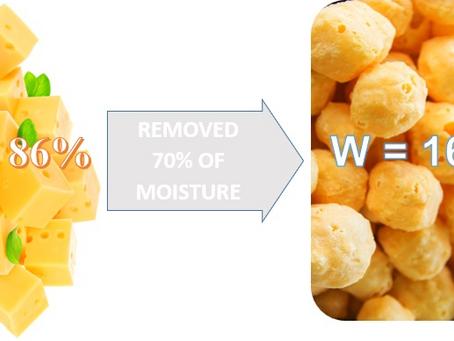 Deshidratación o tostado por medio de Microondas