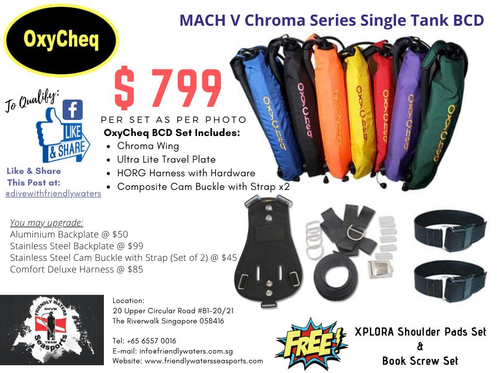 OxyCheq MACH V CHROMA Series Single Tank BCD