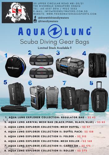 Aqua Lung Scuba Diving Gear Bags