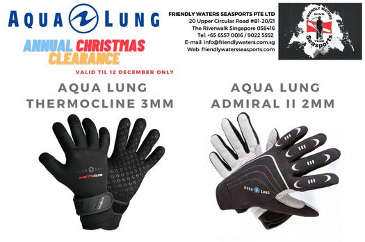 Annual Christmas Clearance - Aqua Lung Diving Gloves