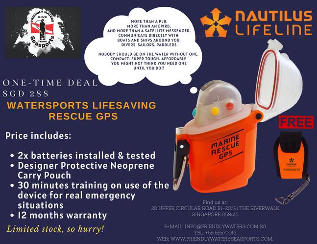 Annual Christmas Clearance - Nautilus LifeLine Marine Rescue GPS