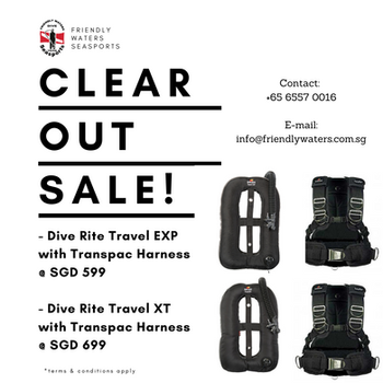Dive Rite Travel EXP & XT with Transpac Harness
